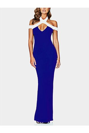 YOINS Cut Out Cold Shoulder Sleeveless Party Dress