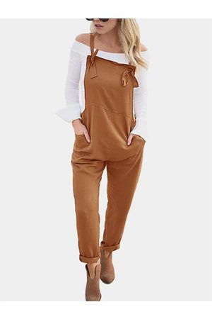 YOINS Square Neck Sleeveless Overall Outfits