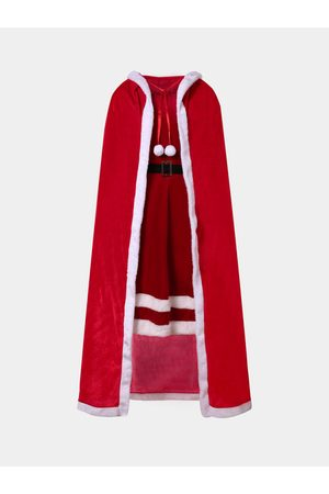YOINS Plus Size Red Hooded Design Cape Coat