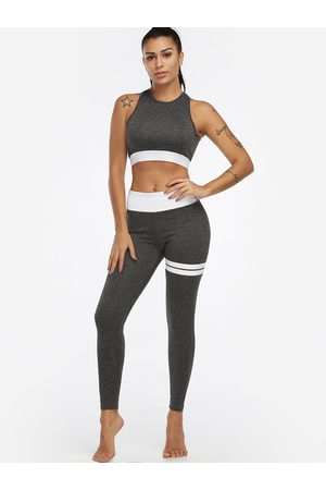 YOINS Active Backless High Waisted Tracksuit in Dark