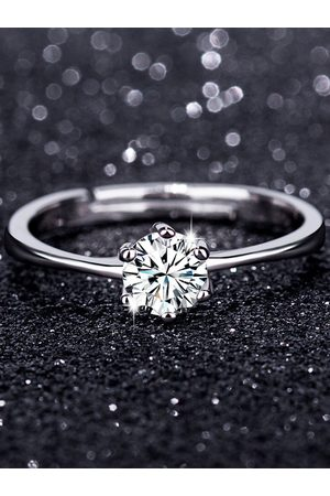YOINS Silver Classic Six-claw Simulation Diamond Ring