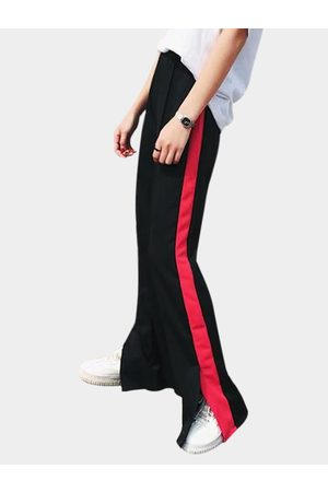 YOINS Active Slit Side Wide Leg High Waisted Sports Pants in