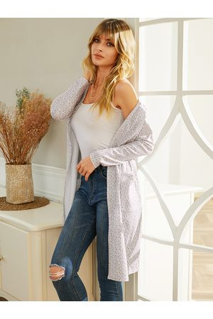 YOINS White Side Pockets Open Front Cardigan