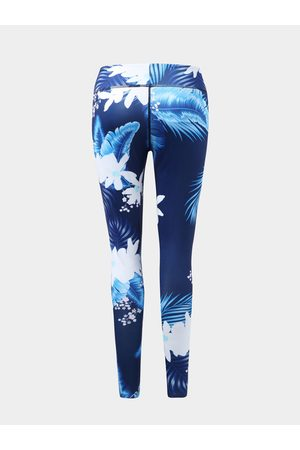 YOINS Active Floral Print High Waisted Leggings