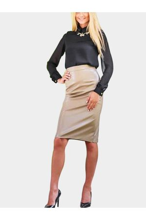 YOINS Leather Look Pencil Skirt in