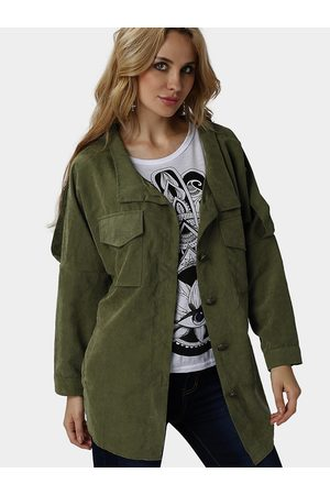 YOINS Army Loose Fit Trench Outerwear