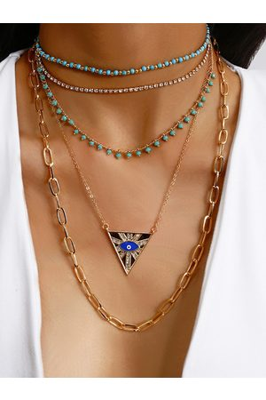 YOINS Mujer Collares - Gold Crew Neck Necklace