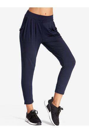 YOINS Dark Pleated Design Middle-waisted Fashion Trousers