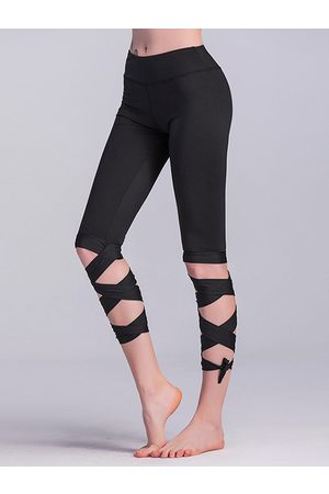 YOINS Tie Up Design High Waisted Sport Leggings