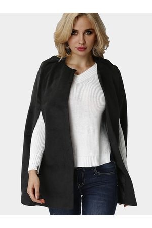 YOINS Collarless Armholes Cape in