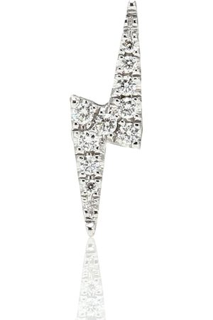 Maria Tash Lightning Bolt 14kt white gold single earring with diamonds