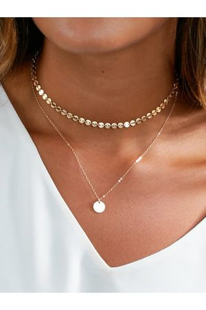 YOINS Sequined Detail Double-layer Necklace