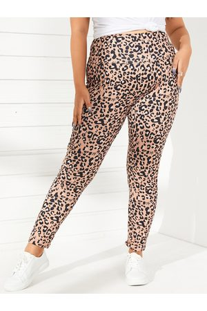 YOINS Plus Size Leopard Leggings