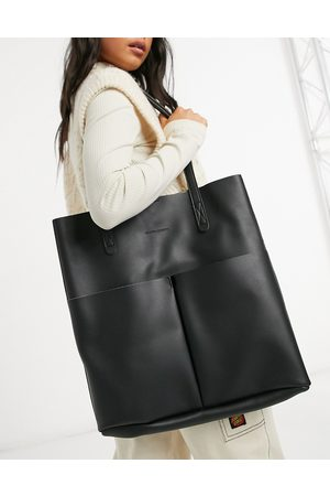 Claudia Canova Mujer Bolsas shopper y tote - Unlined two pocket tote bag with removable pouch in black