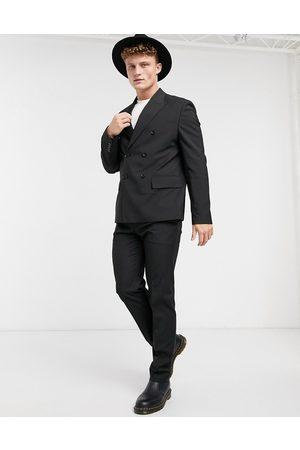 ASOS Boxy suit jacket in black