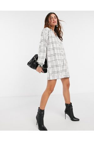 ASOS Check chuck on button front playsuit