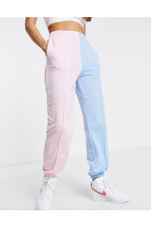 Love & Other Things Colourblock joggers in pink & blue
