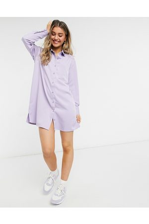 Lola May Shirt dress in purple stripe