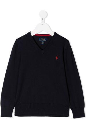 Ralph Lauren Kids Suéter con logo bordado