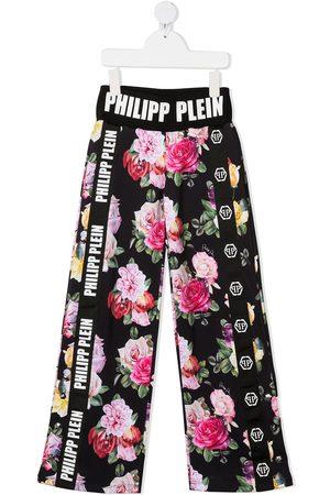 Philipp Plein Pants con estampado floral