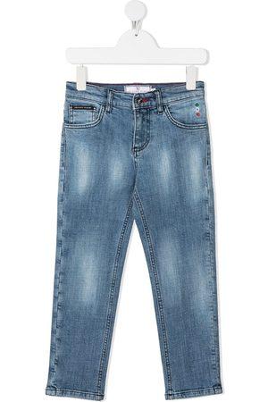 Philipp Plein Niño Jeans - Jeans rectos Iconic Plein