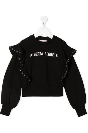 Alberta Ferretti Camisa con volantes en los hombros