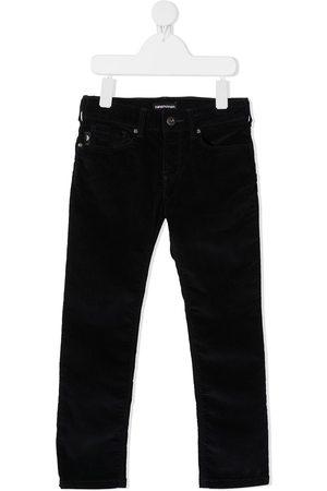 Emporio Armani Pantalones slim de terciopelo