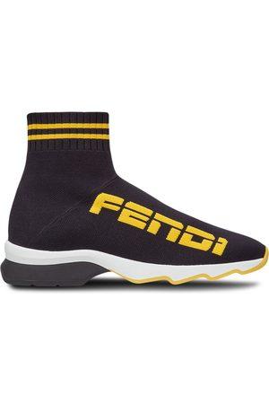 Fendi Tenis estilo calcetín con logo
