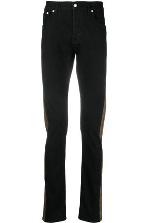 Alexander McQueen Side-stripe logo skinny jeans