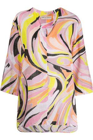 Emilio Pucci Camisa estilo túnica con estampado Vetrate