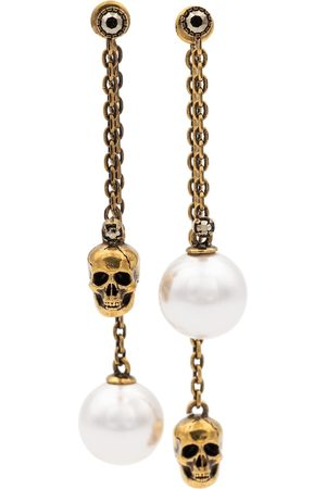 Alexander McQueen Faux pearl and skull earrings