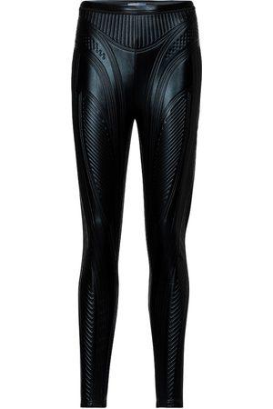 MUGLER Embossed scuba leggings