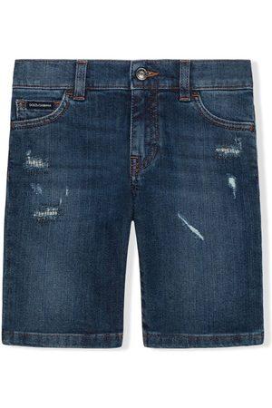 Dolce & Gabbana Pantalones vaqueros cortos con efecto envejecido
