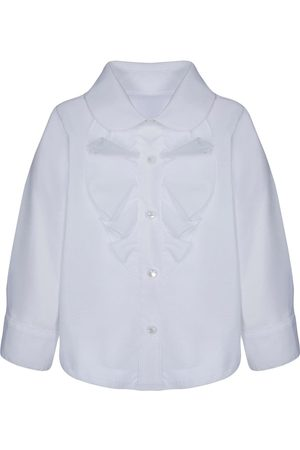 Lapin House Ruffled bib front shirt