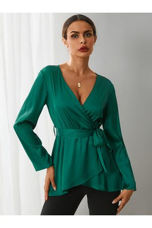 YOINS Crossed Front V-neck Long Sleeves Blouse