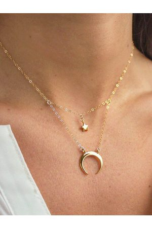 YOINS Gold Star Moon Alloy Necklaces