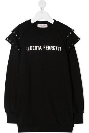 Alberta Ferretti Vestido estilo sudadera con volantes