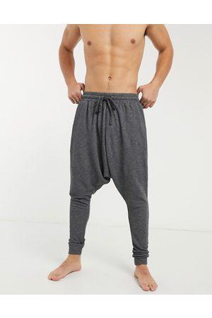 ASOS Hombre Pijamas - Lounge drop crotch pyjama bottoms in black