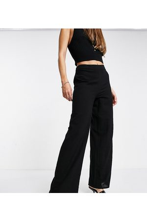 Iisla & Bird Wide leg beach trousers in black