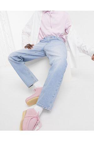 ASOS DESIGN Classic rigid jeans in vintage light wash blue