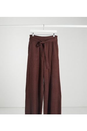 Native Youth Relaxed wide leg trousers with tie waist co