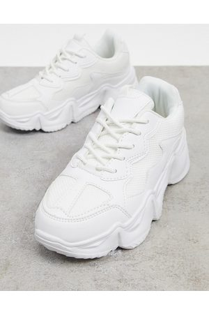 Truffle Collection Chunky trainers with exaggerated sole in white