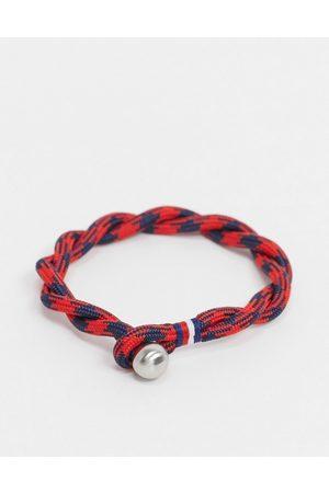 Tommy Hilfiger Woven bracelet in red & navy