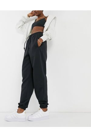 adidas Cosy Comfort' oversized cuffed joggers in black