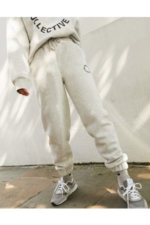 ASOS Oversized jogger with logo in grey marl