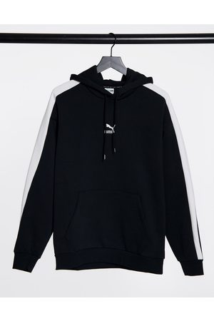PUMA Iconic T7 oversized hoodie in black