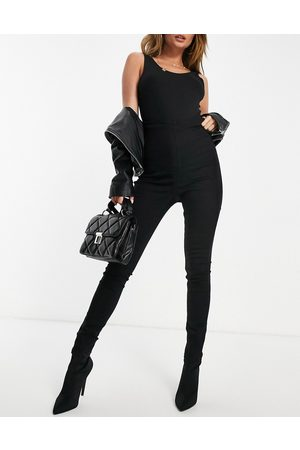 Missguided Vice skinny jean with ruched detail in black