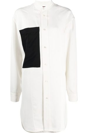 Colville Mujer Manga larga - Camisa larga con bolsillo en contraste