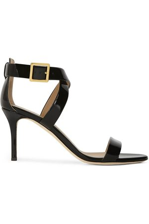 Giuseppe Zanotti Patent cross-strap high-heel sandals