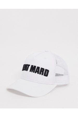 Azat Mard Baseball cap in white & black